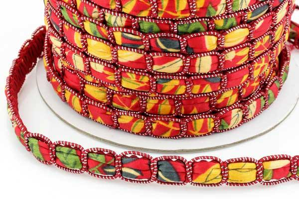 Textil snøre Rød 12 x 4 mm