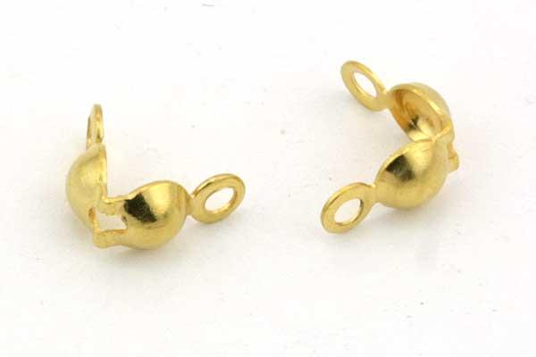 Endeøje til knude rustfri stål Guld til 3 mm 10 stl