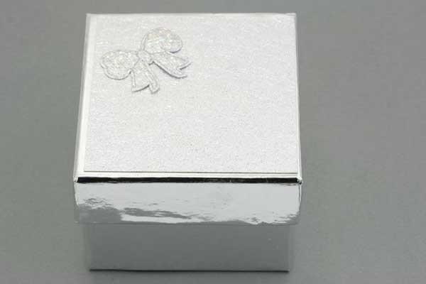 Smykkeæske 90x83x56 mm Sølv