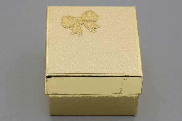 Smykkeæske 90x83x56 mm Guld