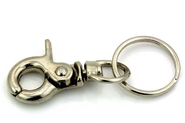 Nøglering med karabin og ekstra ring