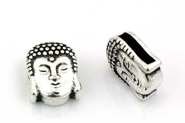 Metal perle Buddha hul 11 x 3 mm