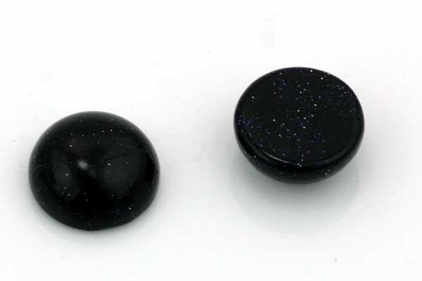 Blå Goldstone Cabochon ca 10x5 mm
