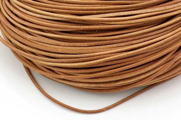 Lædersnøre natur/Beige 2,5 mm