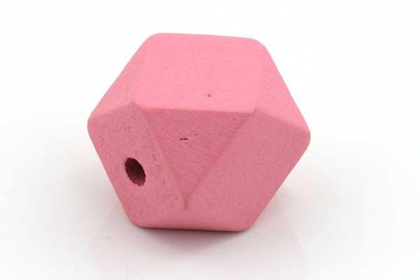Træperler 20 mm pink 3 stk