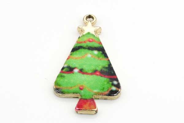 Vedhæng juletræ 31x17 mm