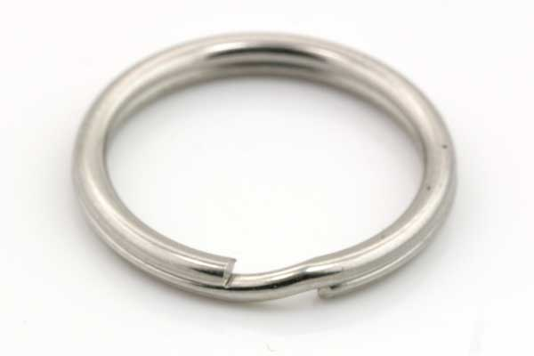 Nøglering rustfri stål 12 x 1 mm 5 stk