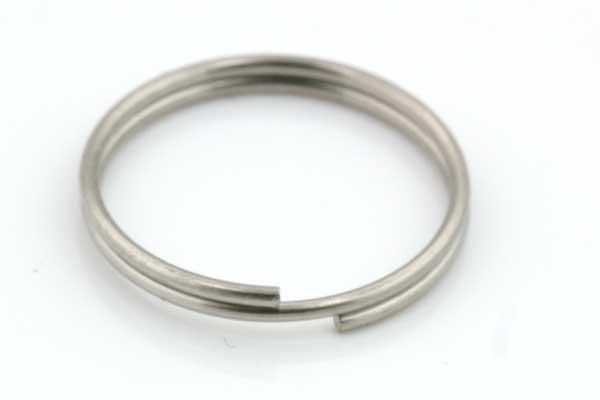 Nøglering rustfri stål 1.8 x 15 mm 10 stk