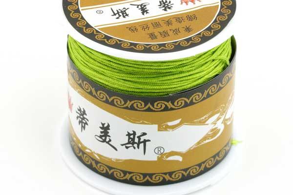 Knyttesnor Lys Oliven 1 mm Nylon