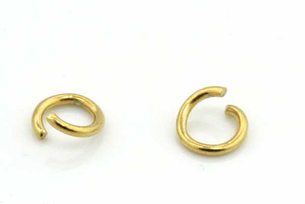 O-ringe rustfri stål guld 5 mm 20 stk