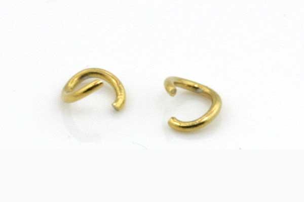 O-ringe rustfri stål guld 3,5 mm 20 stk