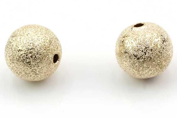 Stardust perler 12 mm Light gold