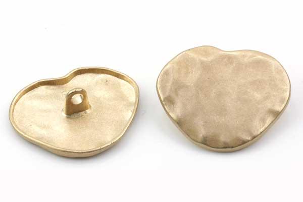 Metalknap 30 x 24 mm Guld
