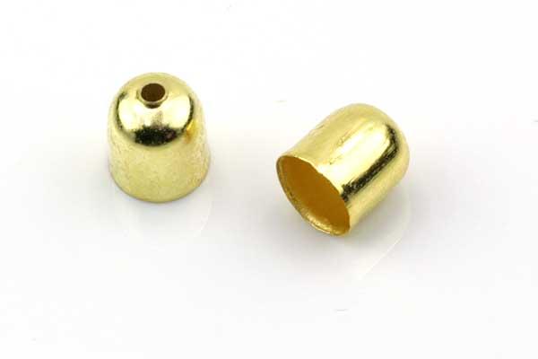 Enderør 5,5 mm hul Guldfarve 10 stk