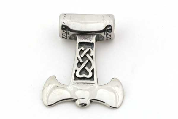 Rustfri stål vedhæng Thors Hammer hul 6 mm