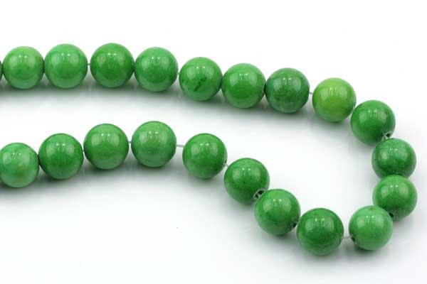 Porcelæns perler Æble grøn 10 mm