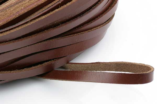 Lædersnøre 2,5x10 mm Brun