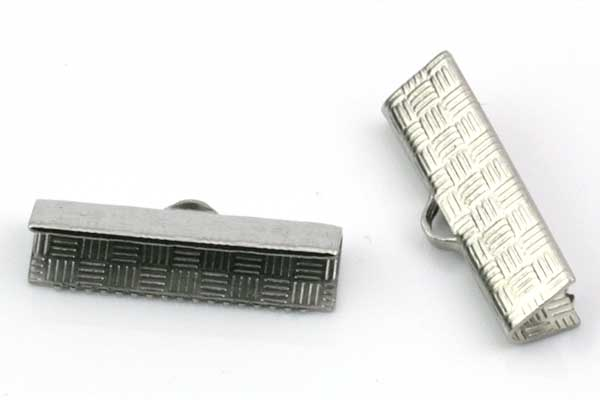 Endestykke klemme Rustfri stål 20x5,5 mm 6 stk