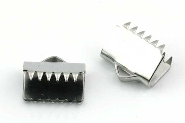 Endestykke klemme Rustfri stål 10,5x9,5 mm 6 stk