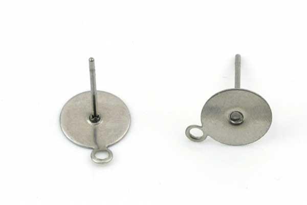 Rustfri stål ørestikker 12,5 mm 10 par