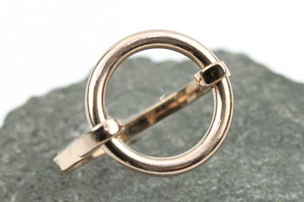 Fingerring stål rose guld str 18