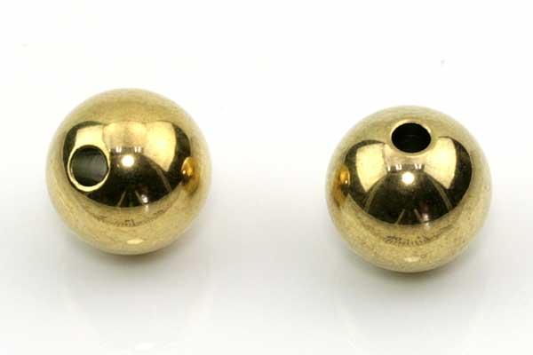 Rustfri stål perle 10x9,5 mm Guld