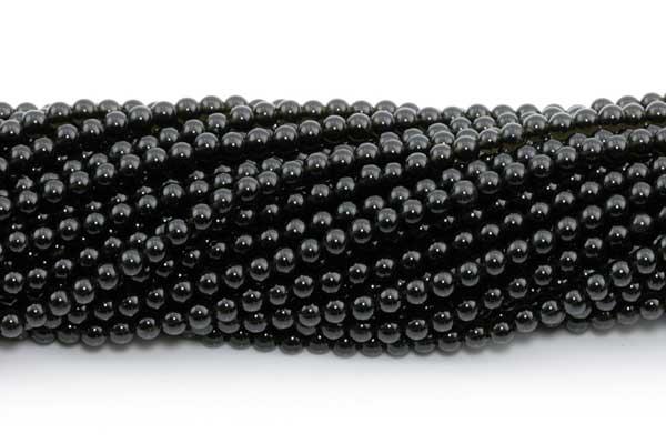 Obsidian 3 mm Sort