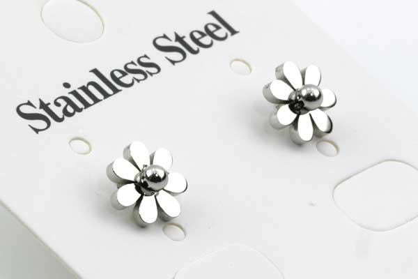 Rustfri stål ørestikker blomst