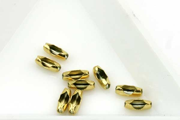 Lås til Kuglekæde rustfri stål Guld til 2 mm kuglekæde