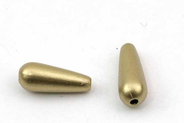 Dråber acryl matte guld 13x5 mm 20 stk
