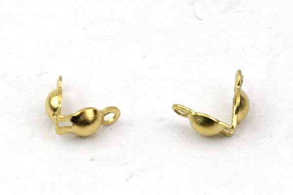 Endeøje til knude guld rustfri stål 3 mm
