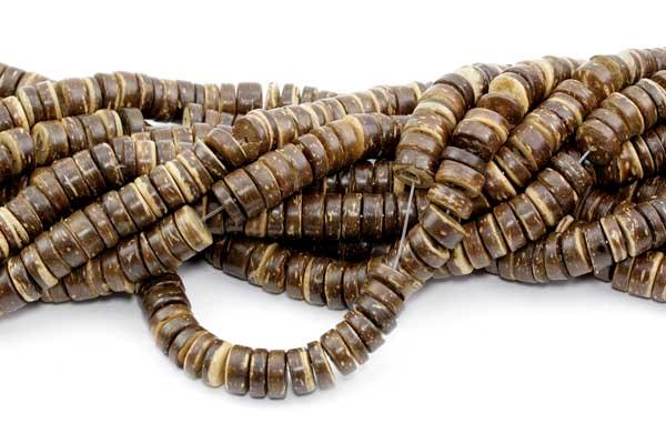 Kokosperler 8 x 2,5~5 mm