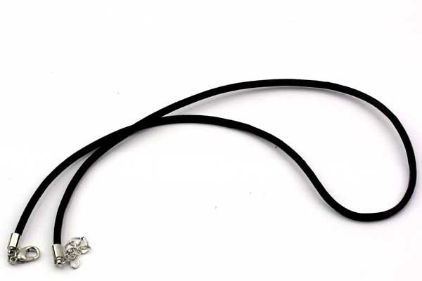 Halskæde i 3 mm læder med lås