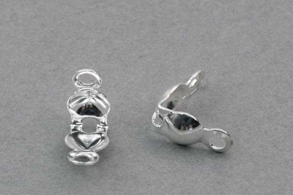 Knudeskjuler sølv belagt 4 mm 100 stk