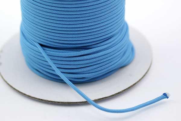 Faldskærmsline 2 mm Turkis blå