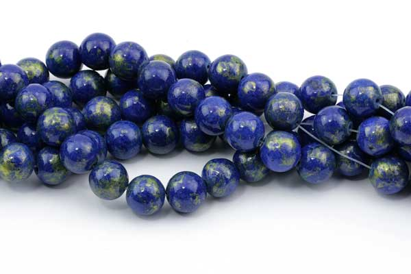 Mashan jade blå med guld 10 mm