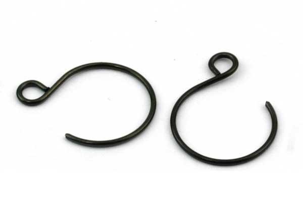 Ørekrog Rustfri stål Gunmetal 18,5 x 14 mm 5 par