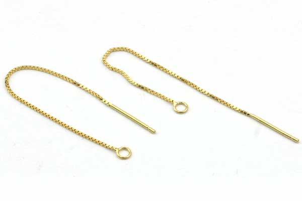 Ørekæde Sterling sølv Guldbelagt 70 mm 1 par