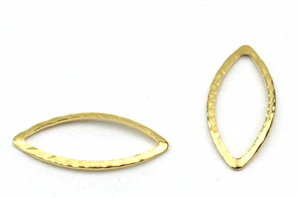 Rustfri stål vedhæng guld 10 stk