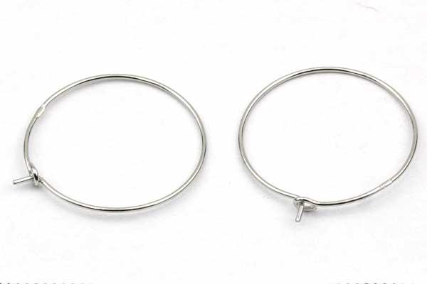 Creoler øreringe Sterling sølv 20 mm 1 par