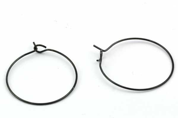 Creoler ørering rustfri stål 25 mm sort 5 par