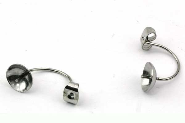 Lås med perleskål i rusfri stål - 5 par