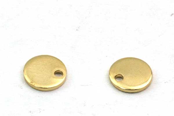 Rustfri stål vedhæng Guldbelagt 6 mm