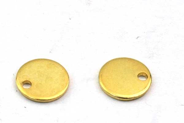 Rustfri stål vedhæng Guldbelagt 8 mm