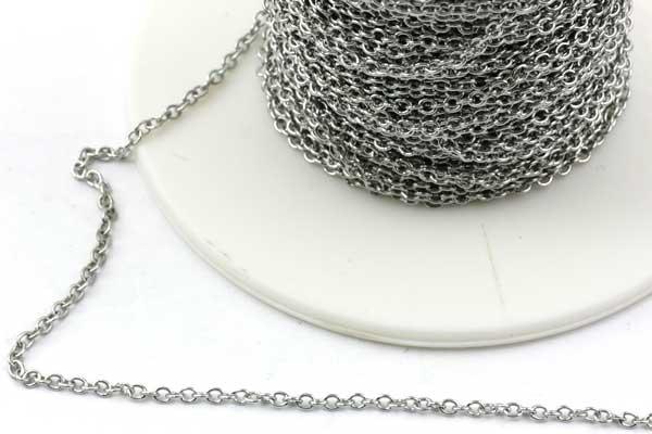 Rustfri stål smykkekæde 2 x 1,5 mm