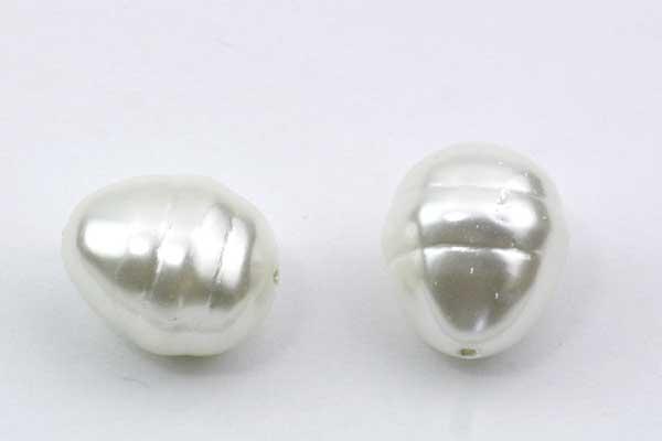 Shell Dråbe perle ca.15x13 mm