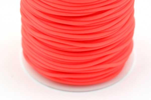 Gummisnøre Orange 2 mm hul