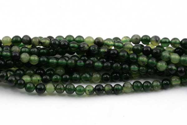 Grøn Jade 2 mm Rund