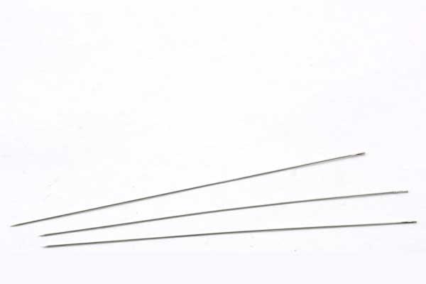Perlenål rustfri stål 0,45 mm  3 stk