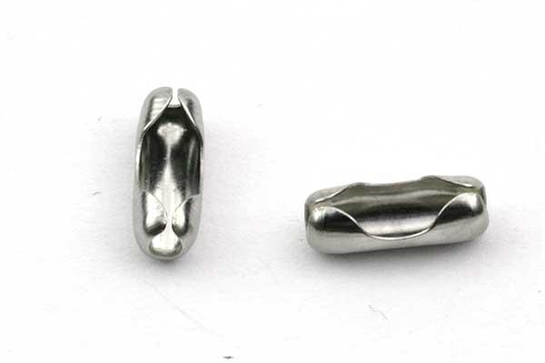 Lås til kuglekæde rustfri stål 3,5 mm